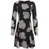 VILA Women's Cross Floral Dress - Phantom: Image 1