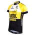 Santini Original Lotto Jumbo 15 Aero Short Sleeve Jersey - Yellow/Black: Image 2