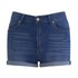 Cheap Monday Women's 'Short Skin' High-Waist Denim Shorts - Sonic: Image 1