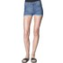 Cheap Monday Women's 'Short Skin' High-Waist Denim Shorts - Sonic: Image 2