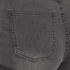 Cheap Monday Women's 'Short Skin' High-Waist Denim Shorts - Grey: Image 3