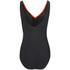Zoggs Women's Neon Tribal Wrap Front Swimsuit - Black/Multi: Image 4