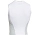 Under Armour Men's Heat Gear Armourstretch Sleeveless Training T-Shirt - White/Steel: Image 2