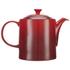 Le Creuset Stoneware Grand Teapot, 1.3L - Cerise: Image 4