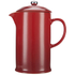 Le Creuset Stoneware Cafetiere Coffee Press - Cerise: Image 1