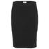 nümph Womens Ribbed Pencil Skirt - Caviar: Image 1