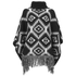 VILA Women's Erika Knitted Poncho - Black - One Size: Image 2