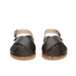 HUGO Women's Valenteen Snake Print Leather Crossover Sandals - Black: Image 4