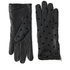 Maison Scotch Women's Dots Leather Gloves - Black: Image 1