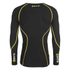 Skins A200 Mens Thermal Long Sleeve Compression Round Neck Top - Black/Yellow: Image 2