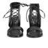 Senso Women's Valleri VI Leather Lace-up Heeled Sandals - Ebony: Image 4