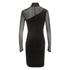 Ganni Women's Sheer Panel Dress - Black: Image 2