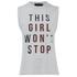 MINKPINK Women's Girl on Top Tank Top - Grey: Image 1