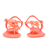 Melissa Women's Solar Hawai Sandals - Coral Pop: Image 4