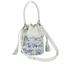 Loeffler Randall Women's Mini Industry Perforated Bucket Bag - Porcelain Print/White: Image 2