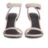 Alexander Wang Women's Antonia Suede Heeled Sandals - Blush: Image 4