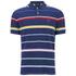 GANT Men's Multi Stripe Pique Polo Shirt - Persian Blue: Image 1