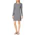 MICHAEL MICHAEL KORS Women's Zip Detail Stripe Dress - New Navy/White: Image 2