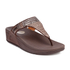 FitFlop Women's Aztek Chada Suede Toe Post Sandals - Chocolate: Image 3
