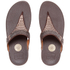 FitFlop Women's Aztek Chada Suede Toe Post Sandals - Chocolate: Image 6