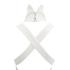 Lavish Alice Women's Cross Strap Tie Detail High Neck Midi Dress - White: Image 5