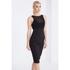 Lavish Alice Women's Mesh Overlay Bodycon Midi Dress - Black: Image 2