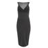 Lavish Alice Women's Mesh Overlay Bodycon Midi Dress - Black: Image 1