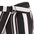 Lavish Alice Women's Stripe Crossover D-Ring Peg Leg Trousers - Black/Cream/Burgundy: Image 6