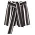 Lavish Alice Women's Stripe Tie Side Shorts - Black/Cream/Burgundy: Image 1
