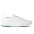 BOSS Green Men's Ray Check Leather Trainers - White: Image 1