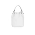 Grafea Women's Leather Tassel Bucket Bag - White: Image 5