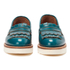 Grenson Women's Juno Leather Frill Loafers - Teal Rub Off: Image 4