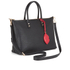 Lulu Guinness Women's Frances Medium Tote Bag with Lip Charm - Black: Image 3