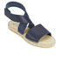 Prism Women's Naxos Ankle Strap Leather Sandals - Marine: Image 5