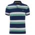GANT Men's Striped Pique Rugger Polo Shirt - Jelly Green: Image 1