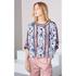 KENZO Women's Moonmap Long Sleeve Top - Pale Pink: Image 2