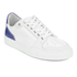AMI Men's Low Top Trainers - White/ Blue: Image 4