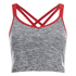 Womens Gym Top - Grey: Image 1