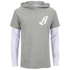 Billionaire Boys Club Men's Big Arch Hoody with Contrast Sleeves - Heather Grey: Image 1