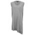 Alexander Wang Women's V Neck Tank Dress with Asymmetric Hem - Grey Melange: Image 1
