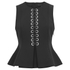 Alexander Wang Women's Peplum Shells Top with Front Lacing - Onyx: Image 1