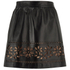 REDValentino Women's Cut Out Leather Skirt - Black: Image 2