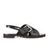 KENZO Women's Kruise Buckle Leather Sandals - Black: Image 1