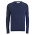 Oliver Spencer Men's Ripple Stitch Crew Neck Jumper - Indigo: Image 1