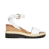 See by Chloe Women's Leather Wedged Sandals - White: Image 1