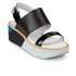 Paul Smith Shoes Women's Bennet Leather Flatform Sandals - Black Charol Patent: Image 5