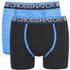 Crosshatch Men's Lightspeed 2-Pack Boxers - Neon Blue/Black: Image 1