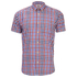Barbour Men's James Tattersall Short Sleeve Shirt - Red: Image 1