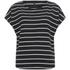 ONLY Women's Love Stripe Loose Top - Black: Image 1