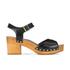 UGG Women's Janie Leather Heeled Sandals - Black: Image 1